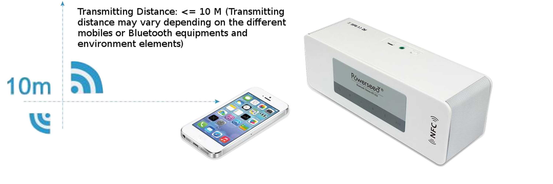 Powerseed Bluetooth and NFC wireless Audio Speaker