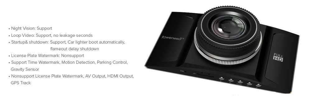 Powerseed® Eagle-Eye - DashCam DV926 Powerseed