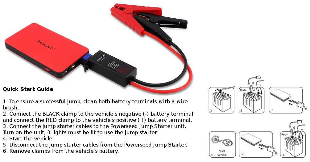 Powerseed MiniBoost Car Jump Starter