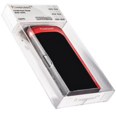 powerseed powerbank portable- charger 2a 12000mah 2output packaging black