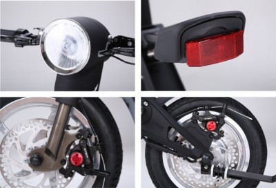 electric folding scooter light brake