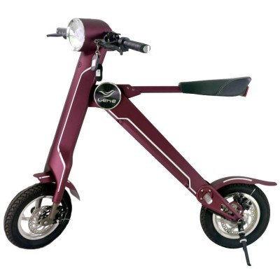 lehe k1 electric folding scooter red